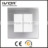 2016 new design IVOR aluminum alloy New product RF radio frequency technology wifi smart home touch light switch