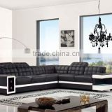 Bisini Black Modern Latest Design Living Room Sofa