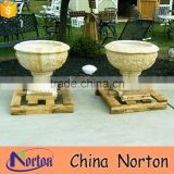 large hand carved marble floating flower pot NTMF- FP201X