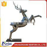 Jumping stainless steel deer sculpture for sale NTS-027LI