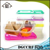NBRSC Meal prep food containers 3 compartment stackable lunch box section bento box with Lids Durable Reusable