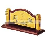 High quality information table sign stand/ Double side table hotel sign stand/ Table top sign holder with metal base P-57