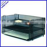 2014 best selling office desk metal mesh stackable file tray