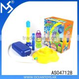 Wholesale summer Kids new feed step soap rocket bubble machine toys