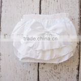 New arrivlal American Hot Girl Picture Baby Girls Bloomers Plain White 3 Layers Diaper Cover With Bow Wholesale