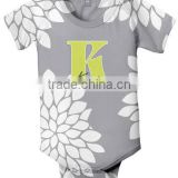 high quality short sleeve baby bodysuit of cute design and soft cotton fabric print Infant Romper baby clothes factory price