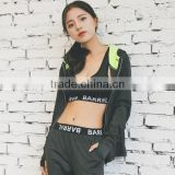 Wholesale custom logo quick dry sweat womens three piece sports suit sportswear speed life crane sportswear