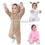 Winter New Design Plus-velet Skin-Friendly And Warm Newborn Cartoon character Rompers body suit baby