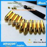 (MOQ:100pcs) Metal Round Bullet Cylinder Aglets For Yeezy Shoe Laces Tips DIY Replacement Scew On No Glue - 26 mm