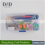 Hot selling mini size good price full circular knitting needle set with plastic box