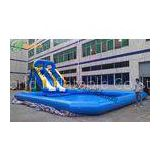 Giant Commercial Outdoor Inflatable Water Slide With A PoolFor Parks