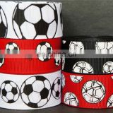 7/8'' soccer grosgrain ribbon Craft/Bow/Headband