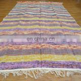 Hand Woven Multicolor Carpet Mat Recycled Chindi Cotton Rag Rug Floor Throw