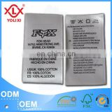 2014 factory cheap garment label, printed care label, content label