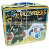 Fancy killer bee lunch tin box with padlock