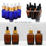 Manufacturer empty refillable essential oil glass pipette bottle with eye dropper