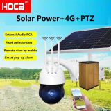 5X zoom Outdoor 360° Auto-cruise  Solar Powered 4G 128G SD two ways audio wireless  PTZ Dome Camera