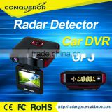 HD 1080P DVR Car Radar Detector with hidden car camera Ambarella A7 Night Vision With Radar Speed Alarm