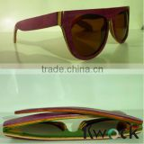 Wood sunglasses China Wood Frame Material and Polarized Lenses recycled skateboard wood sunglasses