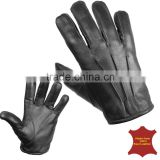 Protec kevlar anti slash fire resistant black leather gloves security SIA