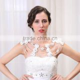 2015 New Cheap Fashion Flower Shoulder Chain With Glass Bead For Wedding