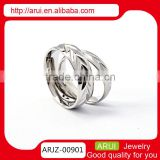 2015 good quality fashion jewelry newest design boys silver rings
