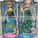 wholesale 11.5 inch frozen fever plastic dools anna and elsa for girl plastic Toys for children