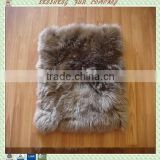 Patchwork sheepskin cushions for chair