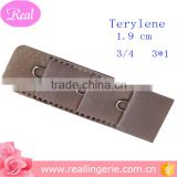 3*1 brown lingerie elastic tape with bra hook and eye