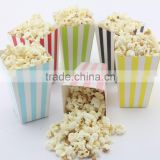 Striped Party Favor Bags Boy Girl Baby Shower Birthday Party Wedding Candy Popcorn Boxes                                                                         Quality Choice