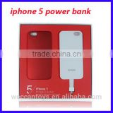 magnetic adsorption combined mobile power bank for iPhone5 5S 5C 2800mah unique power bank
