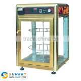 Humidity type glass food warmer display showcase - 4 layers pizza display warmer (SUNRRY SY-WD4P)