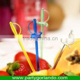 decoration food sword design disposable plastic food picks