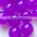 bright purple lovely Chunky Acrylic Jelly beads 20mm in stock wholesale for little girls jewelry