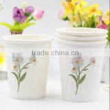Disposable coffee paper cups size customized company logo diary printing tea cup with logo