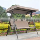 Garden furniture 3 seater patio swing/metal garden swing/ canopy outdoor swing (DH-204)                                                                         Quality Choice