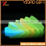Cheap Light in the Dark Silicone rubber wristband, Glow in dark Silicon bracelet