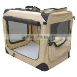 3-Door Folding Soft Dog Crate Cage