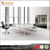 Malamine 8 person with metal powder coasting leg conference table
