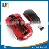 Hot selling Customized logo 2.4ghz Wireless Computer Car Shape Mouse With Blue Headlights