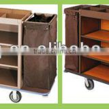 Hotel metal laundry housekeeping trolley