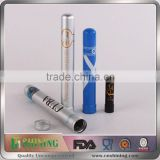 Metal Aluminum Packaging Tube With Cigarette Packaging Cigar Tube Storage