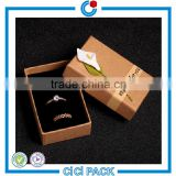 Kraft Paper Material and Stamping Printing Handling Gift Packaging Ring and necklace Jewelry Boxes Custom