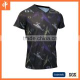 sublimation sea fish's hockey shirt,sport training wear in black customized design,oem service design for custom Ocean style
