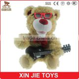 OEM plush teddy bear toy with music lovely musical soft teddy bear toy for children stuffed teddy bear toy with recording