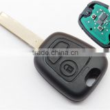 High quality remote key for 2 button Citroen Xsara Picasso Berlingo C5 with uncut blade transponder chip ID46 433Mhz
