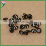 Hot sale 1.25mm round brilliant cut synthetic black nano spinel gemstone for decoration free sample