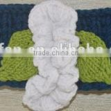 contracted and fashion beauty hair bands for girl crocheted with flower