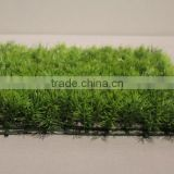Wall Decorative Lush Plastic Indoor Green Artificial Needle Leaves Grass Mat Hedge for Sell