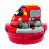 Red Drive Fire Department Children Assembled Toy Car/Make Plastic Pull back Car Toy China manufacturer